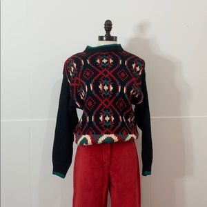 """Vintage Hand Knitted """"Ugly"""" Christmas Sweater"""